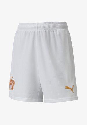 IVORY COAST AWAY REPLICA YOUTH - Short de sport - puma white-flame orange