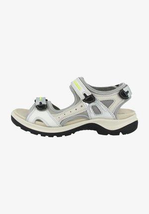 Walking sandals - multicolor silver metallic