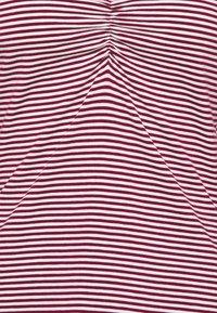 Anna Field - Pitkähihainen paita - dark red/white - 2