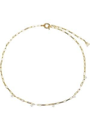 P D PAOLA DAMEN-KETTE GINA 925ER SILBER ZIRKONIA - Necklace - gold