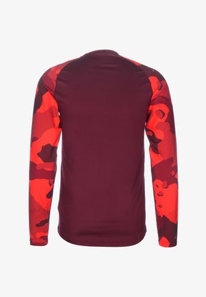 Long sleeved top - night maroon / black