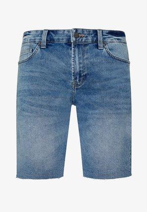 ONSPLY RAW HEM ZIP  - Denim shorts - blue denim