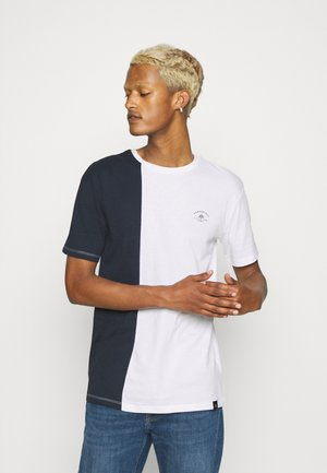 SPLIT - Print T-shirt - navy/white