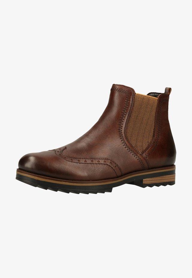 Ankle boots - mokka/mustard/25
