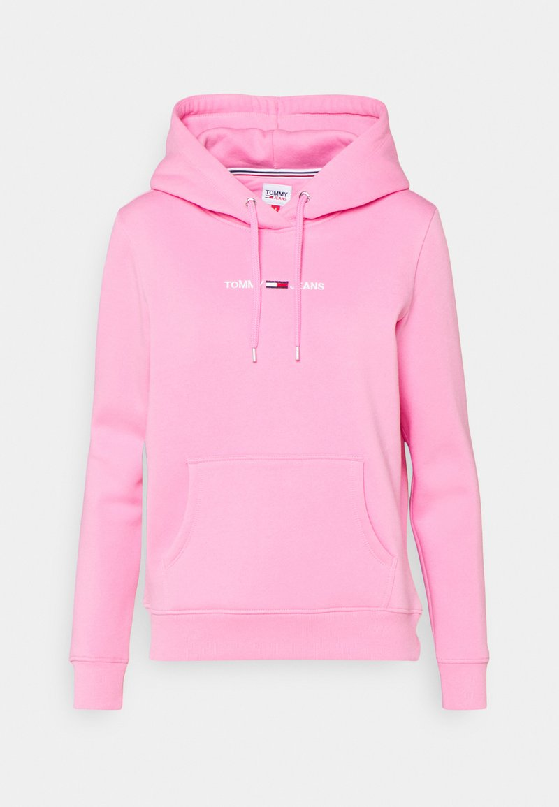 Tommy Jeans - LINEAR LOGO HOODIE - Hoodie - pink daisy