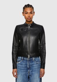 Diesel - Leather jacket - black - 0