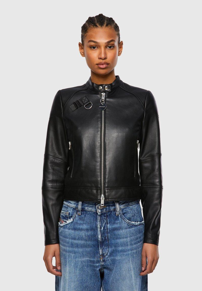 Diesel - Leather jacket - black