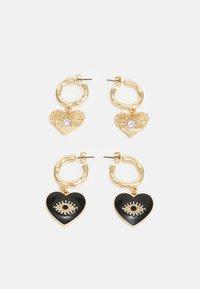 PCSOFFIE EARRINGS 2 PACK - Pendientes - gold-coloured