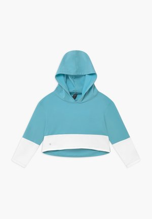 GIRLS COLOR BLOCK HOODIE - Mikina s kapucí - light blue/white
