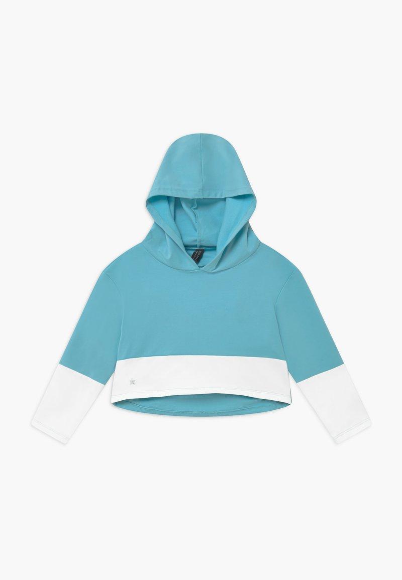 South Beach - GIRLS COLOR BLOCK HOODIE - Felpa con cappuccio - light blue/white