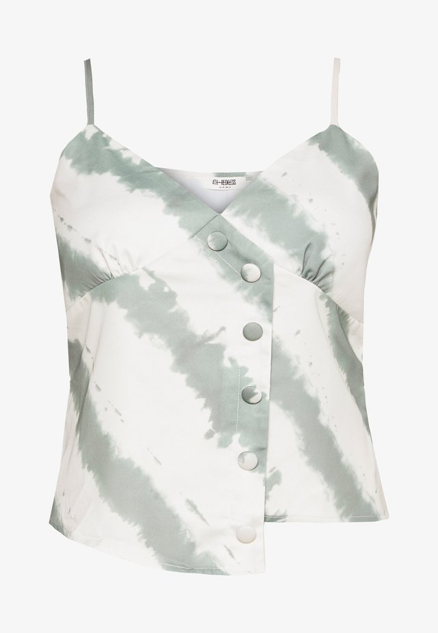 HULLY - Blouse - beige/green