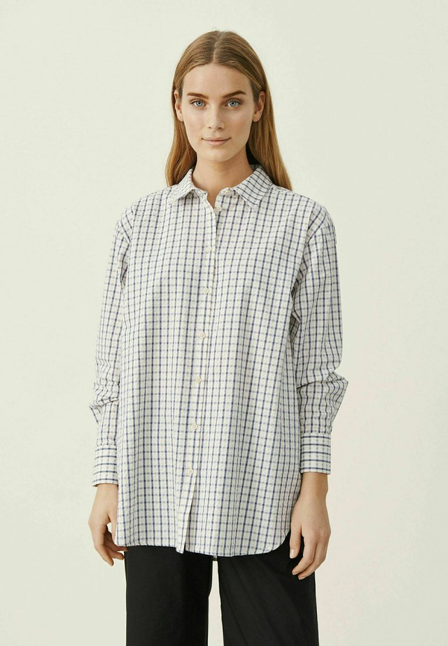 ISHMAPW - Camicia - gray blue check