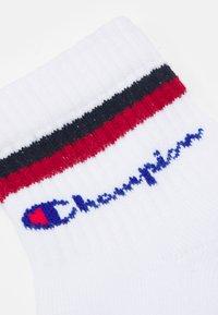 Champion - ANKLE SOCKS STRIPES 6 PACK UNISEX - Sportovní ponožky - white/red/black - 1
