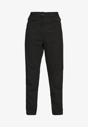 ARMY RADAR MID BOYFRIEND ANKLE - Trousers - dk black