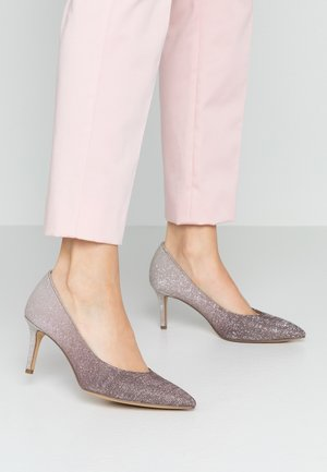 COURT SHOE - Classic heels - pewter