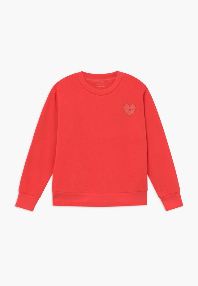 CROP - Sweatshirt - light red