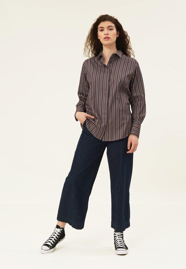 Skjorte - brown multi stripe