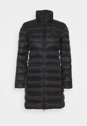 BASIC JACKET LONG STANDING NECK COLLAR - Krátký kabát - black