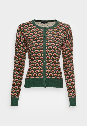 CARDI ROUNDNECK MUFFIN - Cardigan - sycamore green