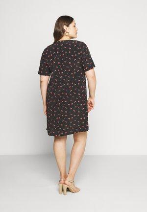 FLORALSHIFT - Korte jurk - black