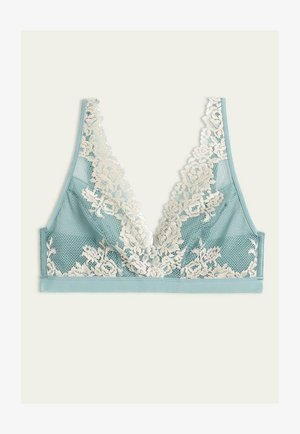 PRETTY FLOWERS - Triangle bra - - 642i - aquamarine/vanilla