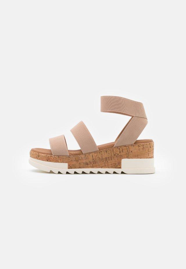 PORTSEA - Platform sandals - oatmeal