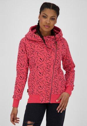 Sweater met rits - coral