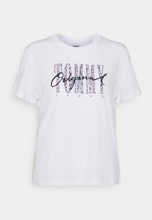 CAMO FLORAL SCRIPT TEE - T-shirt con stampa - white