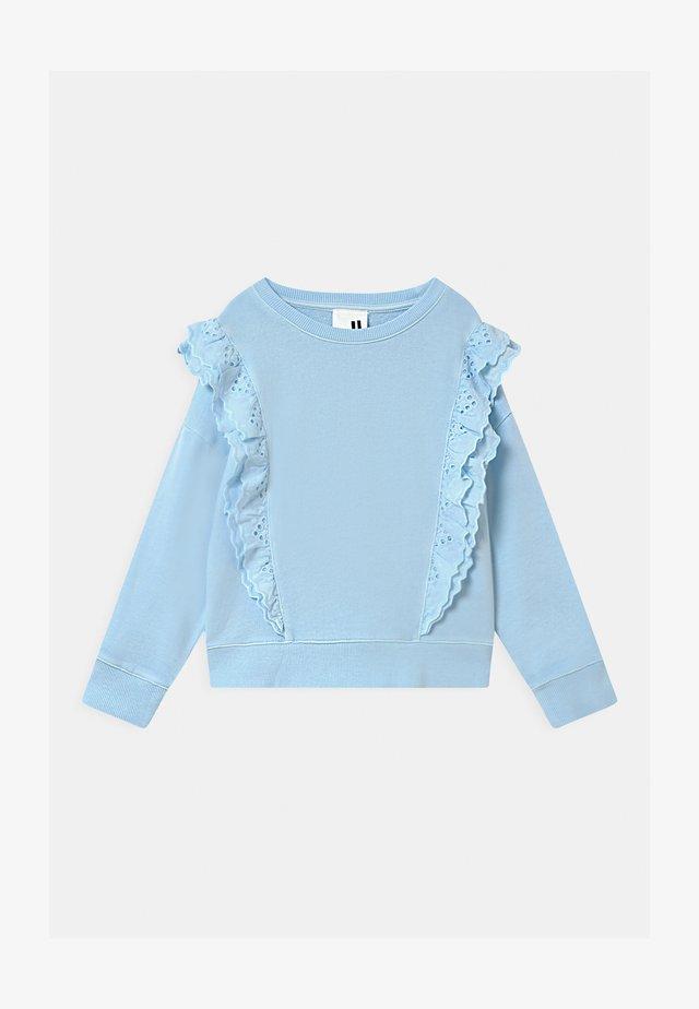 FENELLA FRILL CREW - Sweater - frosty blue