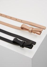 Even&Odd - 2 PACK - Belt - black/rose gold - 2