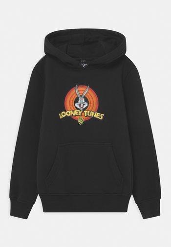 LOONEY TUNES BUGS BUNNY LOGO HOODY UNISEX - Sweatshirts - black