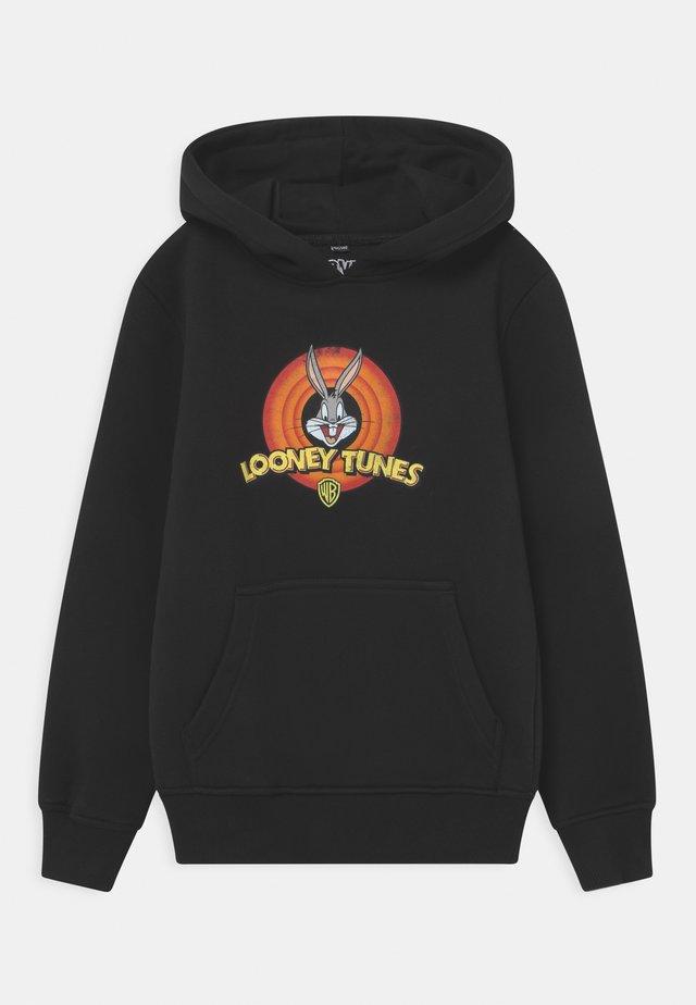 LOONEY TUNES BUGS BUNNY LOGO HOODY UNISEX - Sweatshirt - black