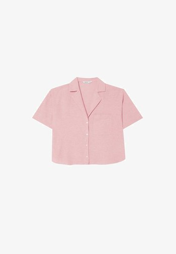 RUSTIKALES MIT KURZEN ÄRMELN - Button-down blouse - pink