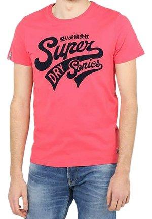 Print T-shirt - futur fuchsia