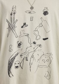 PULL&BEAR - T-shirt print - beige - 4