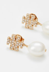 Tory Burch - KIRA PAVE PEARL DROP EARRING - Náušnice - gold-coloured - 4