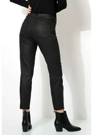PERFECT  - Leather trousers - black