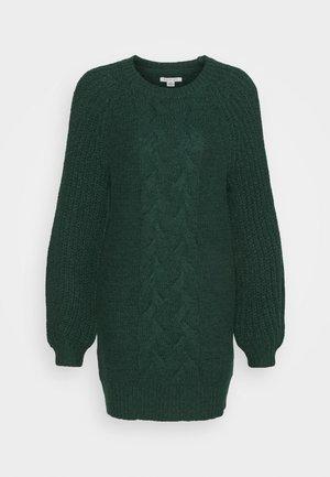 CABLE MOCK SWEATER DRESS - Gebreide jurk - green