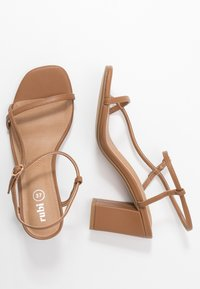Rubi Shoes by Cotton On - HANNAH THIN STRAP HEEL - Sandals - tan - 3