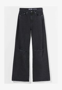 Bershka - Flared Jeans - black - 4