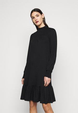 BLACKSHIRRED DRESS - Jerseykjoler - black