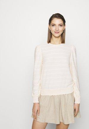 ONLKELLY SHORT - Long sleeved top - ecru