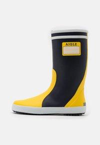 Aigle - LOLLY POP LABEL UNISEX - Holínky - indigo/jaune/blanc - 0