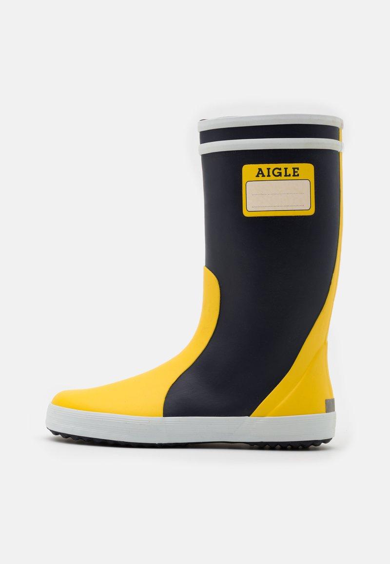 Aigle - LOLLY POP LABEL UNISEX - Holínky - indigo/jaune/blanc
