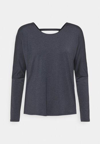 DRAPEY V BACK - Maglietta a manica lunga - ombre blue