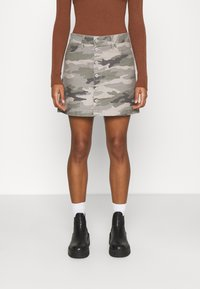 American Eagle - ALINE SKIRT - Mini skirt - olive - 0