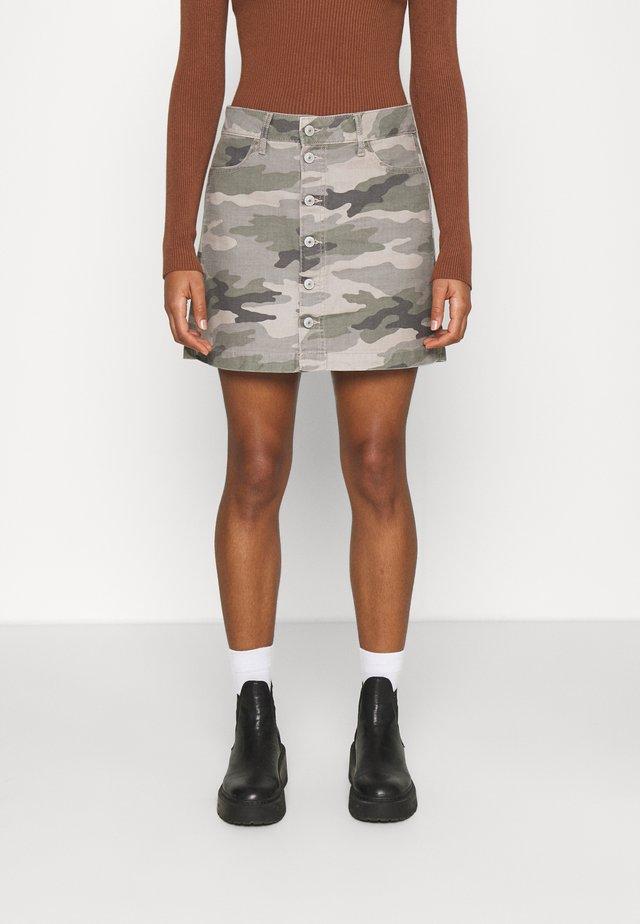 ALINE SKIRT - Mini skirt - olive