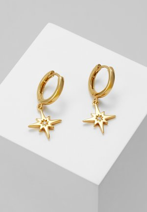STARBURST CHARM HUGGIE HOOPS - Oorbellen - gold-coloured