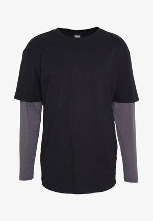 OVERSIZED SHAPED DOUBLE LAYER TEE - Langærmede T-shirts - darkshadow