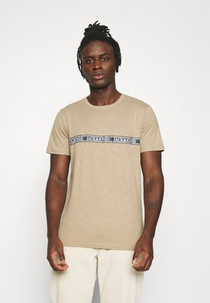 JORNERA TEE CREW NECK - Print T-shirt - chinchilla